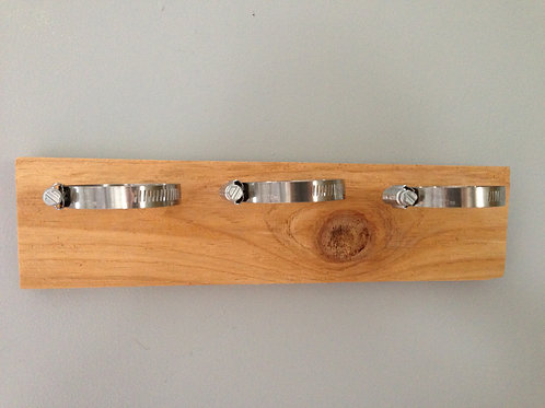 Natural Horizontal Mount with Silver Hardware