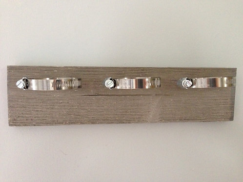 Gray Horizontal Mount with Silver Hardware