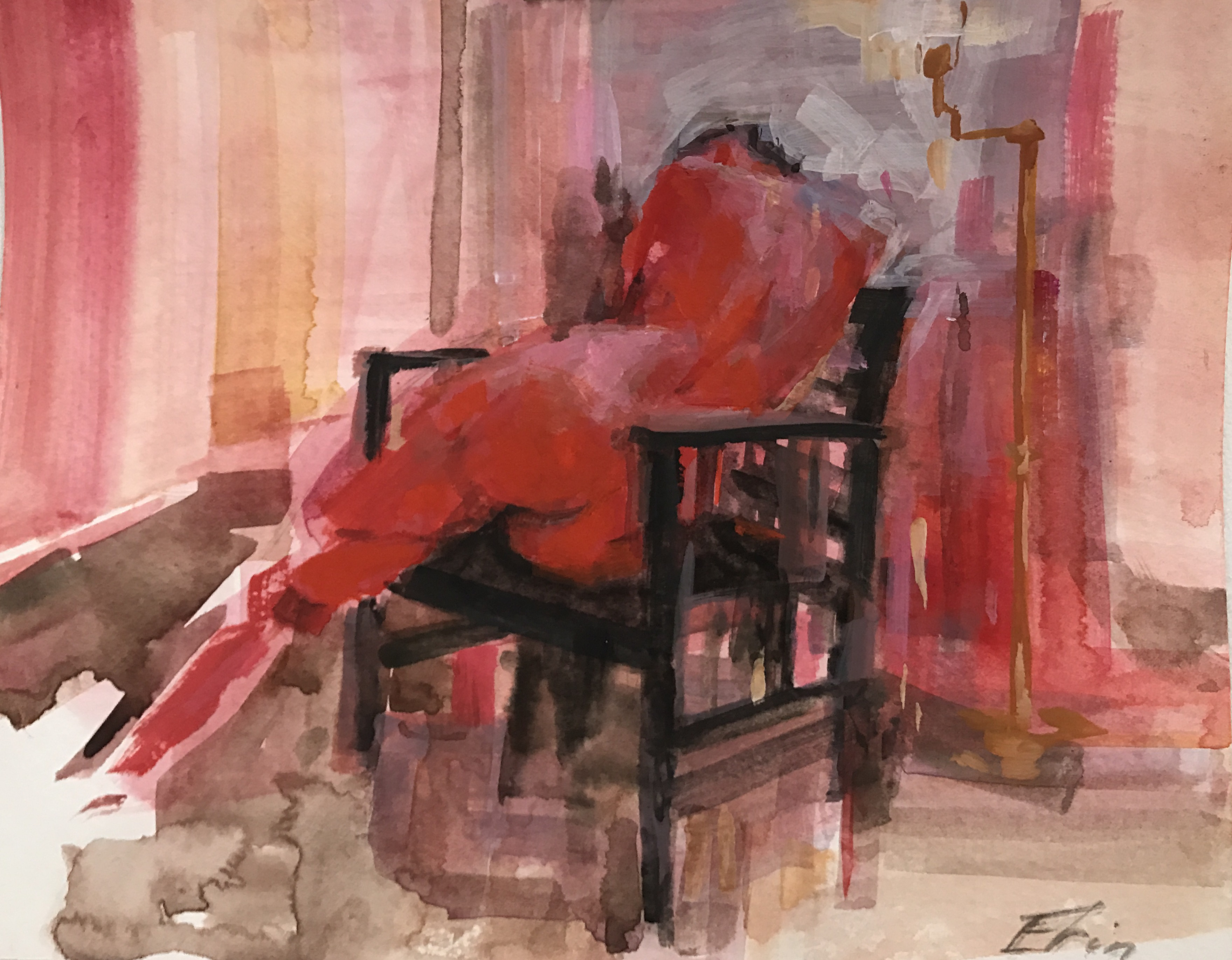 In Red Repose