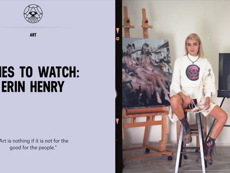 """""""Ones to Watch: Erin Henry"""" for Milk XYZ"""