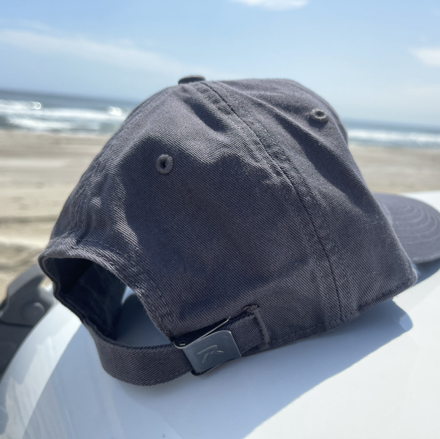 RELAXED FIT, ADJUSTABLE HAT - CHARCOAL
