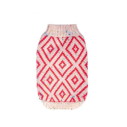 Hot Dogz Sweater Rombo Coral Talla L