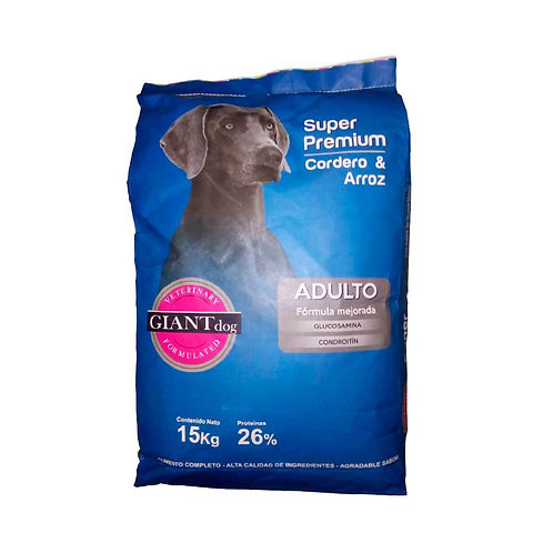 Giant Dog Adulto Super Premium - Cordero y arroz 15kg