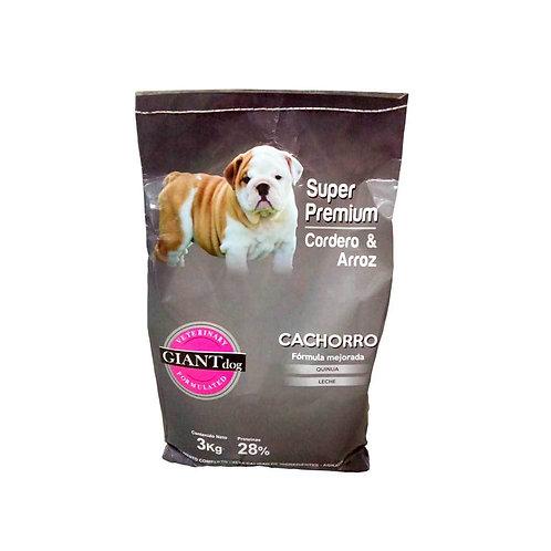 Giant Dog Cachorro Super Premium - Cordero y arroz  3kg