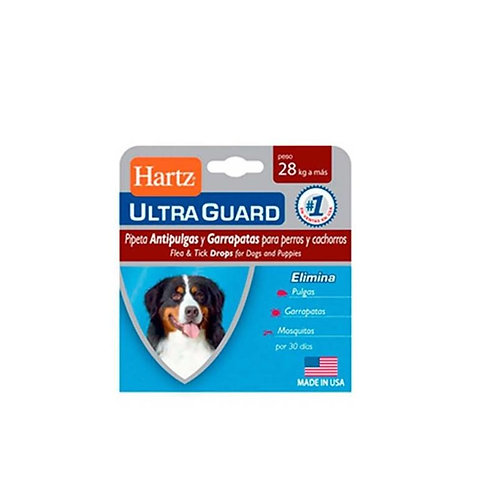 Hartz Ultraguard Dog Over 28+ - Caja x 1 pipeta