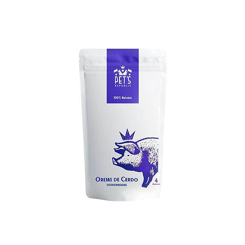 Snack Pet's Republic Snack Orejas de Cerdo Deshidratadas x 4 Und