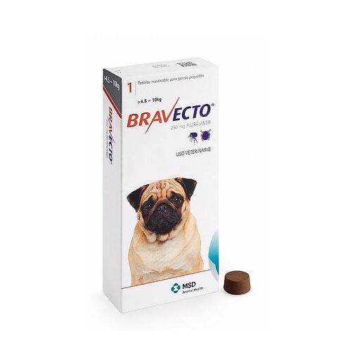 Bravecto Perros 250mg (4.5 - 10kg)