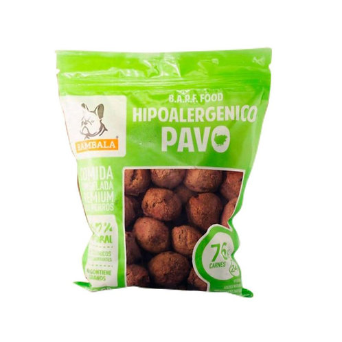 Rambala - Comida Congelada Premium para Perros - Pavo hipoalergénico x 800g