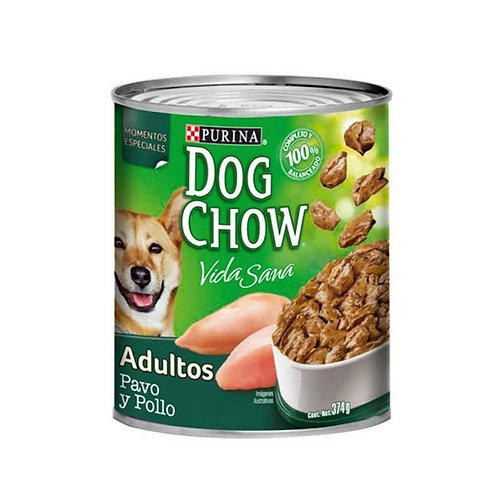 Dog Chow Pavo y Pollo 374g