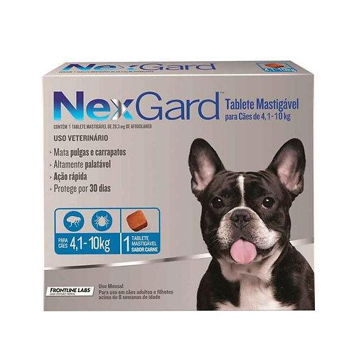 Nexgard: Caninos de 4.1kg a 10kg 28.3mg