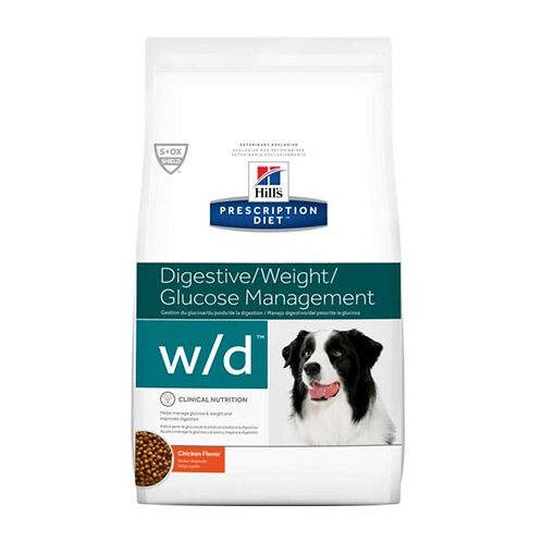 Hills PD w/d Dry - Manejo de glucosa, digestivo y peso 3.9k