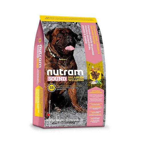 Nutram S8 Sound Large Breed Adult Dog - Adulto - Raza grande 13k