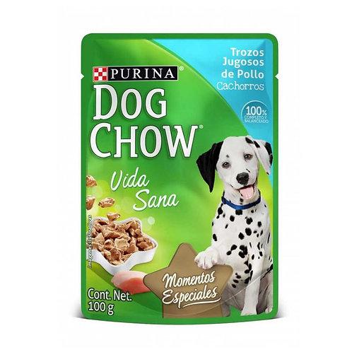 Dog Chow Cachorro Trozos Jugosos de Pollo x 100g