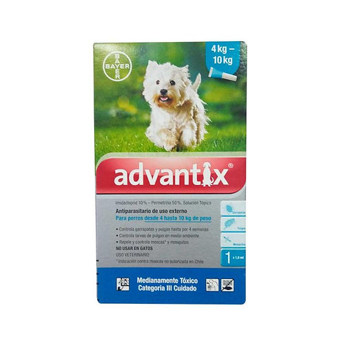 Advantix - Pipeta Antipulgas Perros4 - 10 kg