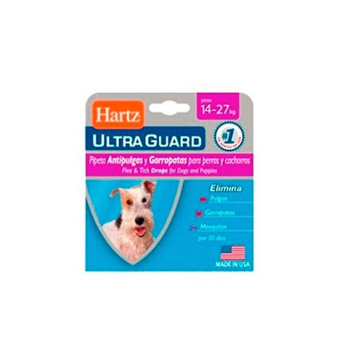 Hartz Ultraguard Dog 14 - 27 kg - Caja x 1 pipeta