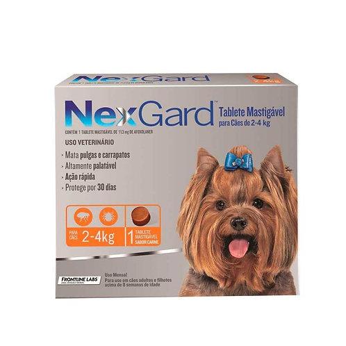 Nexgard: Caninos de 2kg a 4kg 11.3mg