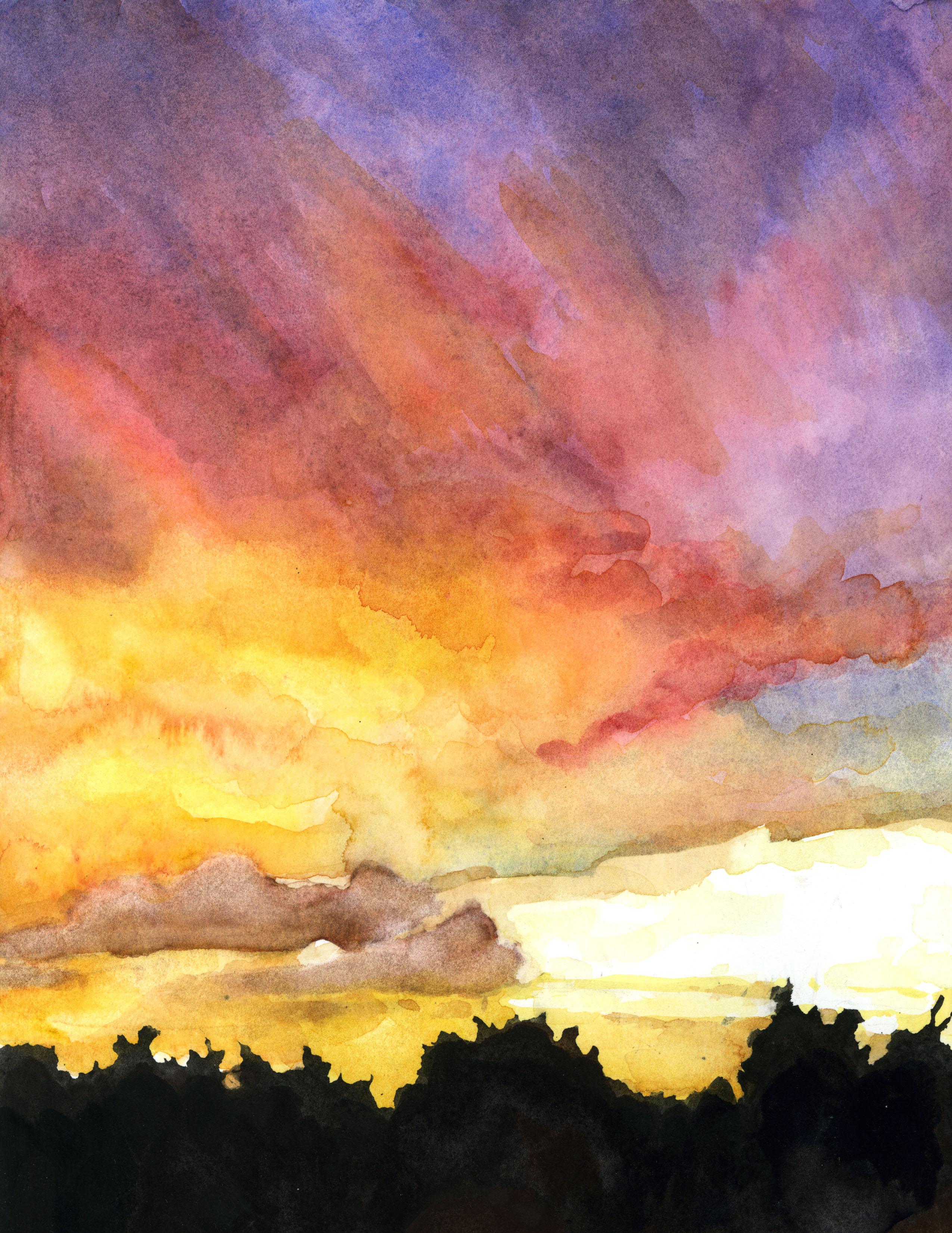 Stormy Sky Study