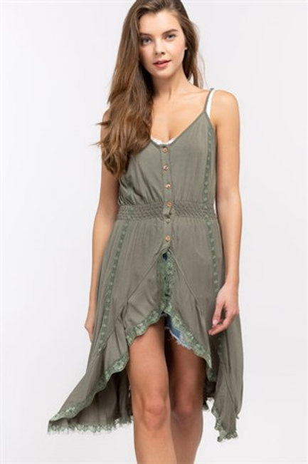 Olive High Low top
