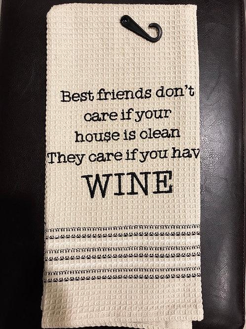 Best friends dish towel