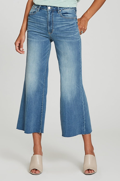 Super high rise wide leg cropped