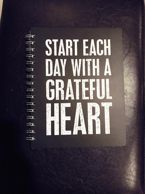 Grateful heart spiral notebook