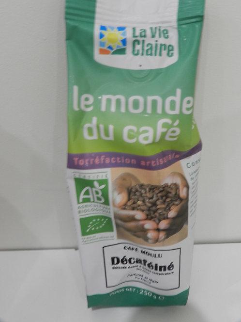 Café décaféine moulu 250 g
