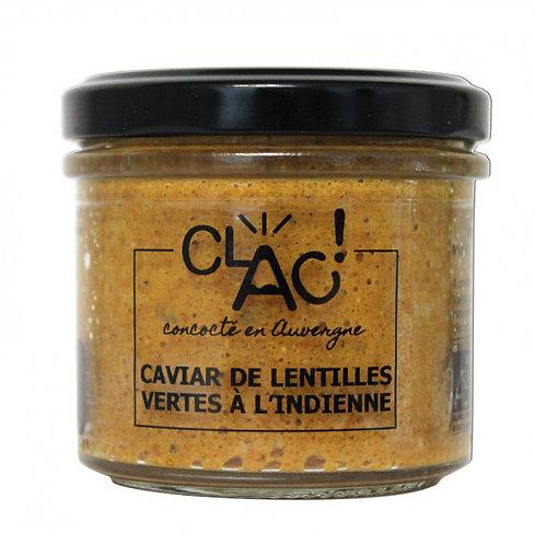 Caviar de lentilles vertes à l'Indienne