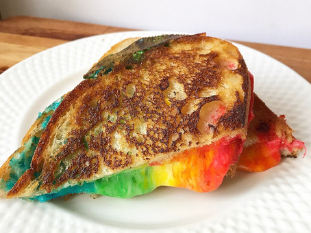 Rainbow Grilled Cheese!