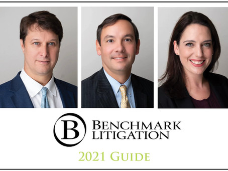 Three Pipes Miles Beckman Attorneys Recognized by Benchmark Litigation
