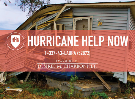 The Law Offices of Desiree Charbonnet Launches Hurricane Help Now Website