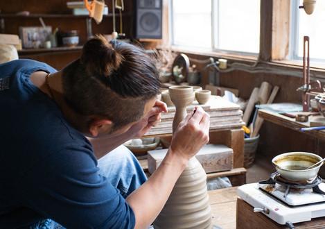 An Artisan Making a Sake Cup
