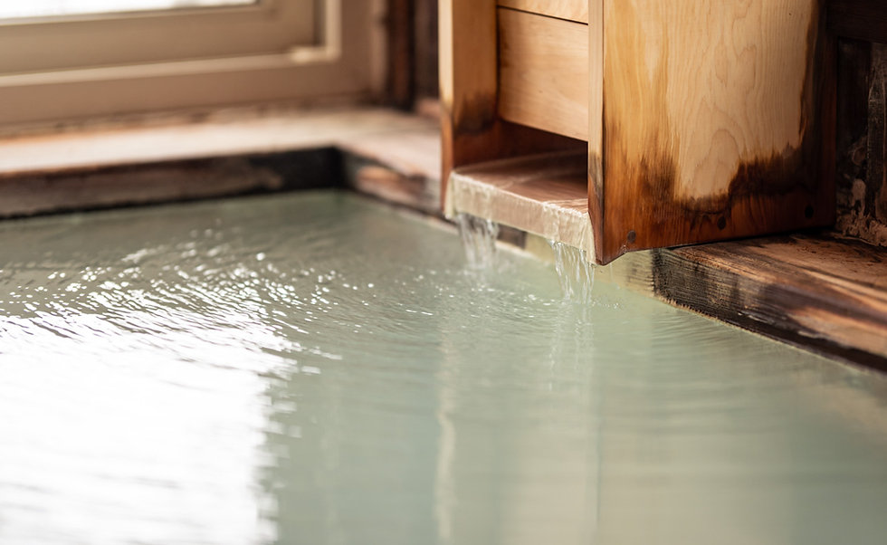 Zao Onsen hot spring water.