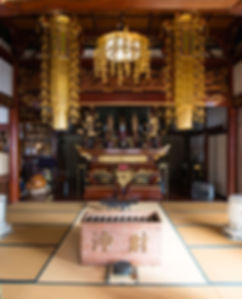 Prayer Room in the main hall of Gyokusenji in Tsuruoka