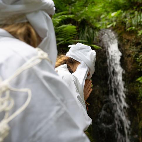 Waterfall yamabushi training.