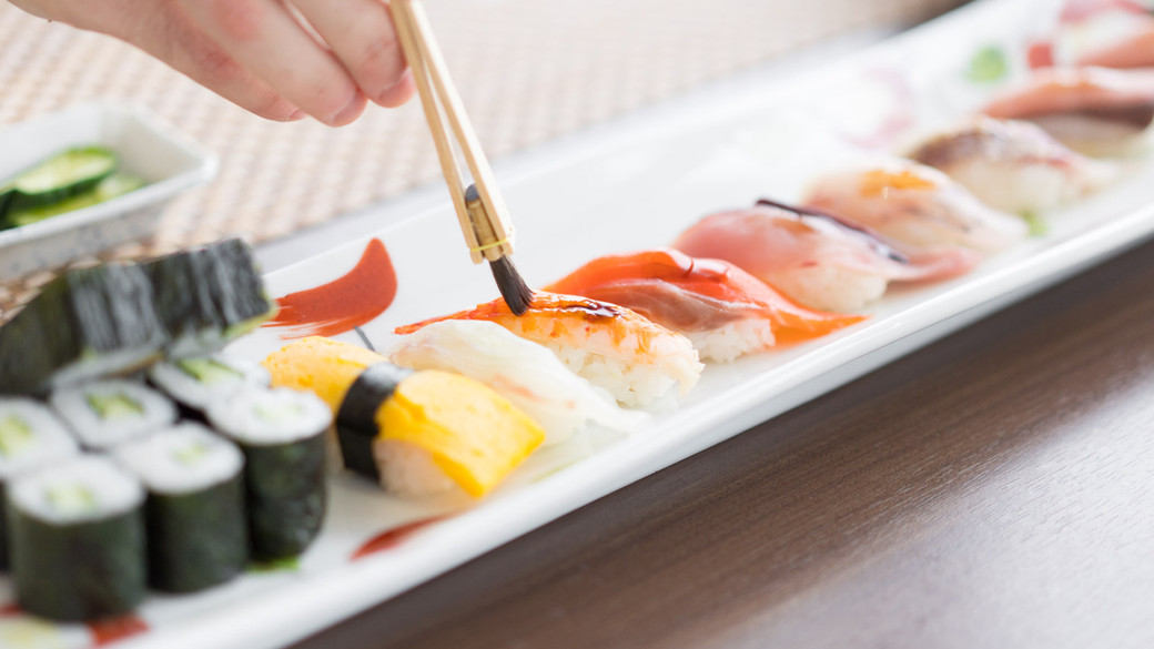 The sushi you will make in this class.