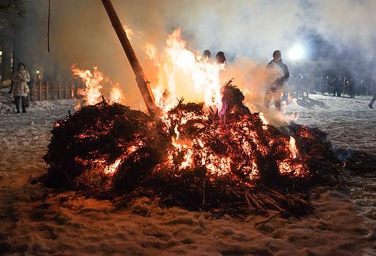 Otaimatsu-hiki Shoreisai Festival Mt. Haguro Shugendo Dewa Sanzan Yamabushi