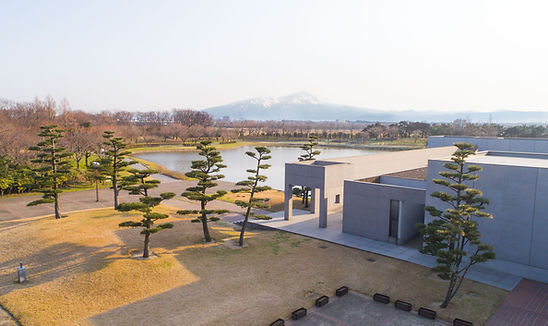 An aerial shot of Ken Domon Museum during the Spring.