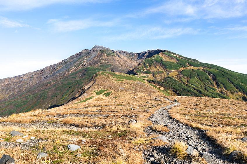 The final climb to the summit of Chokai.