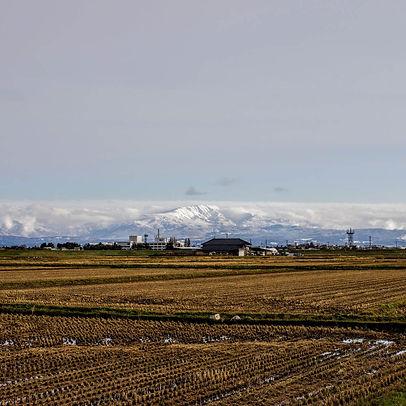 Mt. Gassan from Mikawa Town