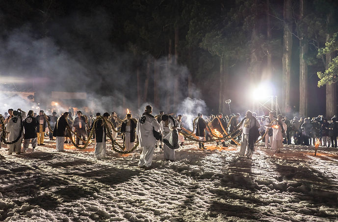 Dewa Sanzan Yamabushi Shugendo Mt. Haguro Otaimatsu-hiki Shoreisai Festival