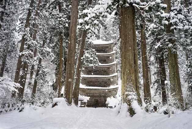 Mt. Haguro Five-story Pagoda Winter