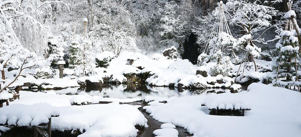 Gyokusenji Temple during the winter.
