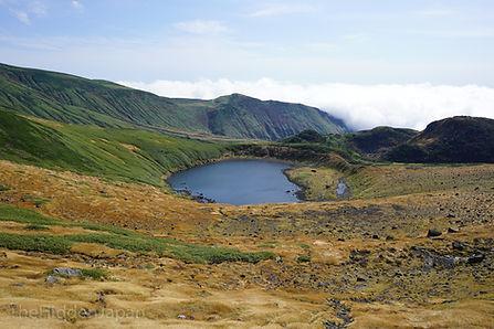 The Chokai Lake crater.