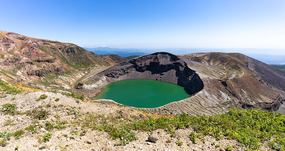 The crater lake of Mt. Zao