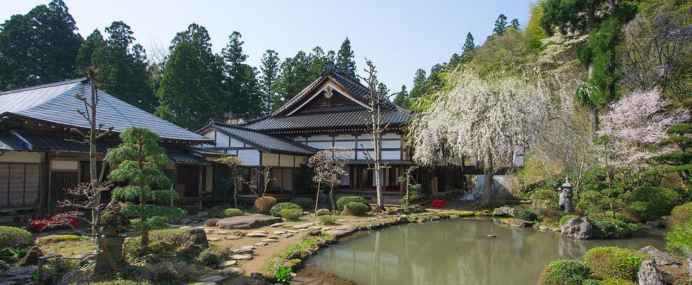 Gardens of Gyokusenji Temple in Tsuruoka