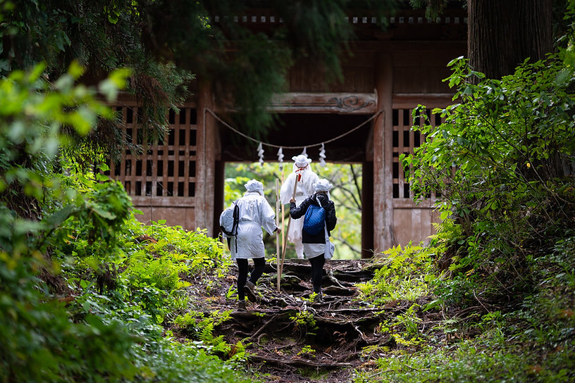 Yamabushi training on Mt. Haguro.