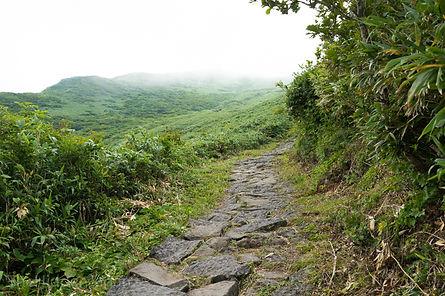Hiking on mt. chokai