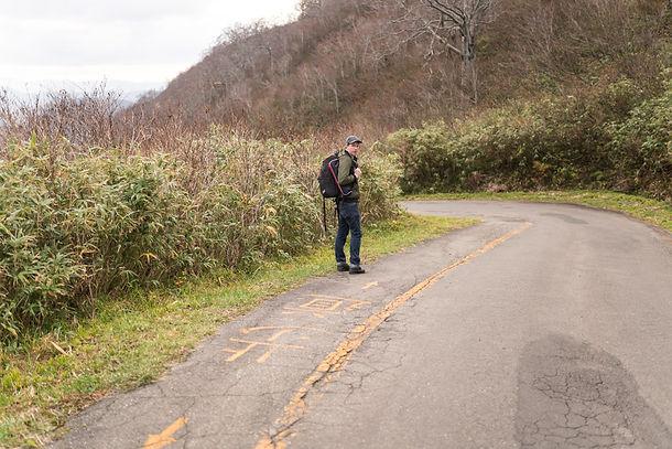The path up to the Mt. Yudono Shrine.