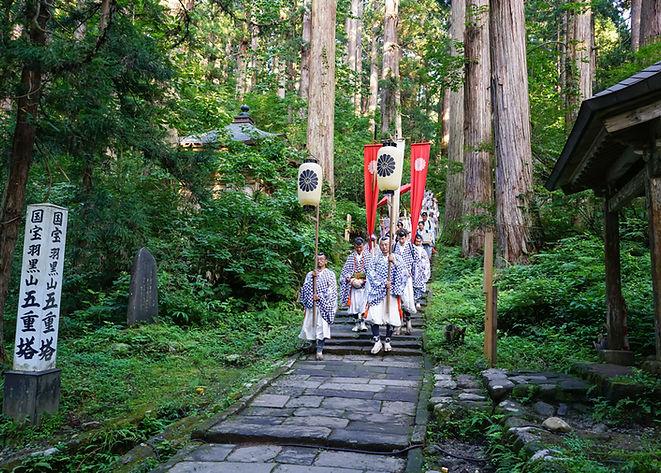 Yamabushi mountain monks on Mt. Haguro.