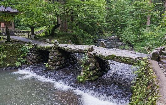 Haraigawa River Mt. Haguro five storied pagoda Shugendo Dewa Sanzan Yamabushi